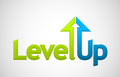Vector level up message Royalty Free Stock Photo