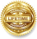 Vector lifetime golden warranty label tag Stock Photos