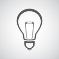 Vector light bulb icon Stock Photography