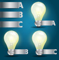 Vector light bulb idea with modern template design infographics alphabet banners presentation Royalty Free Stock Images