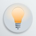 Vector light bulb symbol the of lighting the lamp on a white icon on a white background illustration eps Royalty Free Stock Photography