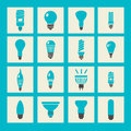 Vector light bulbs icon set