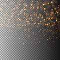 Vector light glitter particles background effect for luxury greeting rich card. Sparkling texture. Star dust sparks in