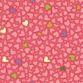 Vector light red heart repeat pattern. Suitable for gift wrap, textile and wallpaper