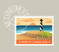 Vector of lighthouse on the outer banks, North Carolina Royalty Free Stock Photo