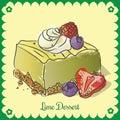 Vector lime dessert