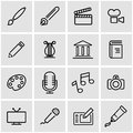 Vector line art icon set Royalty Free Stock Photo