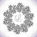 Vector line frame design elements for logos,ornament and decoration Royalty Free Stock Photo