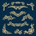 Vector line frame design elements,ornament, emblem