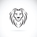 Vector of a lion head design on white background.