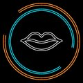 Vector lips illustration - kiss icon, red lipstick