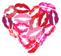 Vector lipstick heart