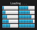 Vector loading bar blue indicate procedure of load Royalty Free Stock Image