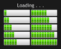 Vector loading bar green indicate procedure of load Stock Images