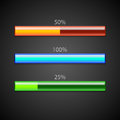 Vector loading bars set of Stock Photography