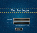 Vector login background with blue jeans motive Royalty Free Stock Image