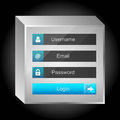 Vector login interface username and password eps Royalty Free Stock Images