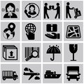 Vector logistic, delivery and shipping icon set Royalty Free Stock Photo