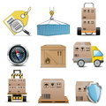 Vector logistics icons Stock Images