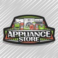 Vector logo for Appliance Store Royalty Free Stock Photo