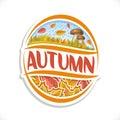 Vector logo for Autumn season