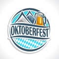 Vector logo beer coaster oktoberfest