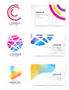 Vector logo and business card template. Abstract Royalty Free Stock Photo