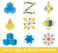 Vector logo and design elements Stock Images