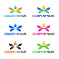Vector logo elements Royalty Free Stock Images