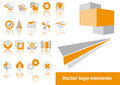 Vector logo elements Royalty Free Stock Photography