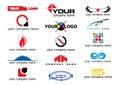 Vector logo elements Royalty Free Stock Photos