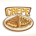 Vector logo for french Crepe