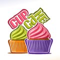 Vector logo for fruit Cupcake