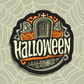 Vector logo on Halloween holiday theme