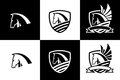 Vector logo with horse head icon Royalty Free Stock Photo