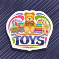 Vector logo for Kids Toys Royalty Free Stock Photo