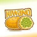 Vector logo Kiwano Fruit