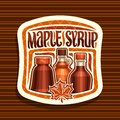Vector logo for Maple Syrup