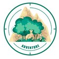 Vector logo of nature and mountains. Adventure. Symbol on white background