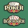 Vector logo Poker and Black Jack
