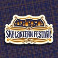Vector logo for Sky Lantern Festival