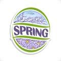 Vector logo for Spring season