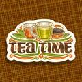 Vector Logo For Tea Time