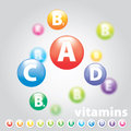 Vector logo vitamins nutrition color wheel Stock Image