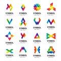 Vector logos abstract modules Royalty Free Stock Photo