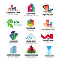 Vector logos construction and home improvement collection of Stock Photo