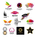 Vector logos for cosmetics and body care collection of Royalty Free Stock Images