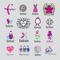 Vector logos fashion accessories and clothing collection of Stock Photos