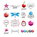 Vector logos jewelry and fashion accessories collection of Stock Photography