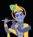 Vector lord Vishnu Krishna